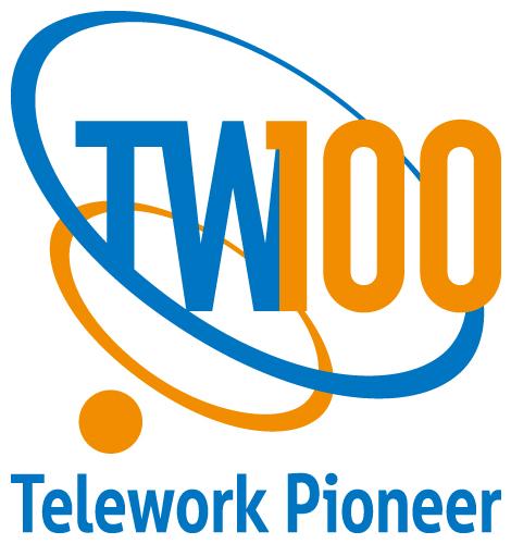 テレワーク先駆者百選のロゴ